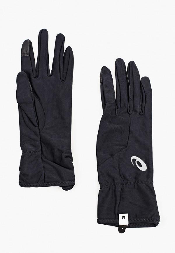 женские перчатки asics, черные
