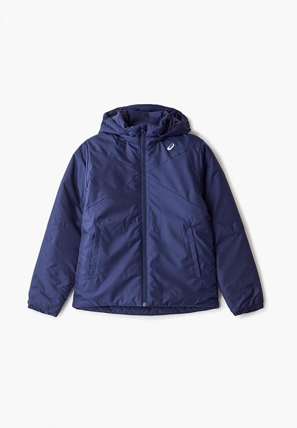 куртка asics для мальчика, синяя
