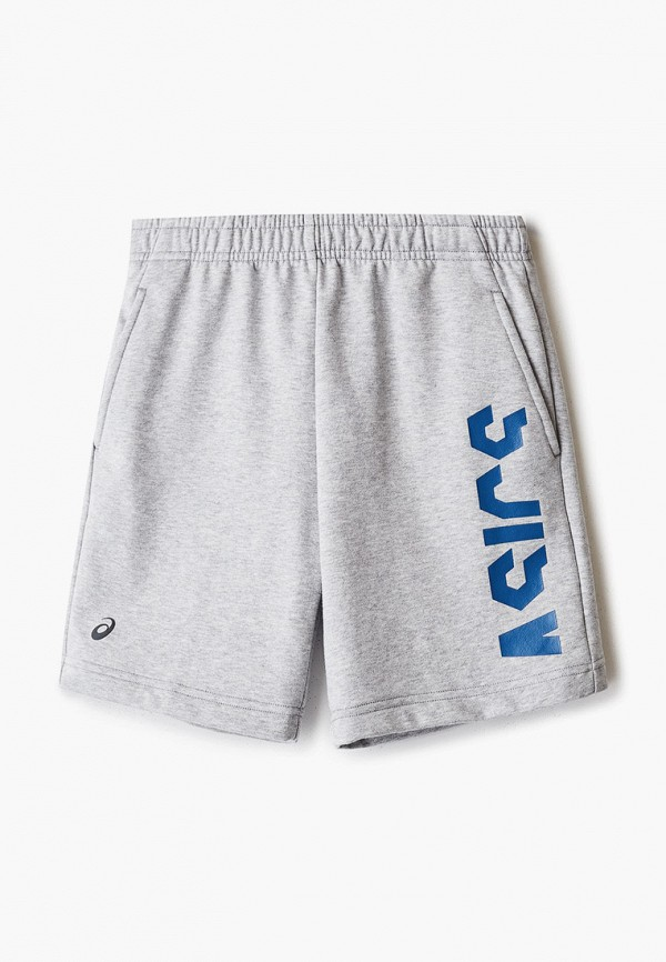 спортивные шорты asics для мальчика, серые