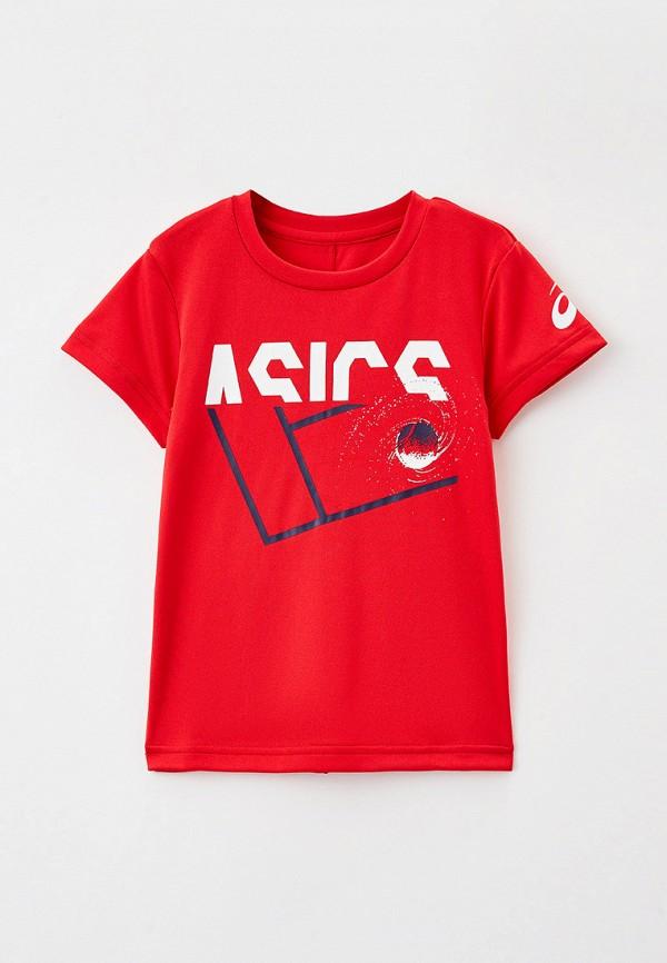 футболка asics для мальчика, красная