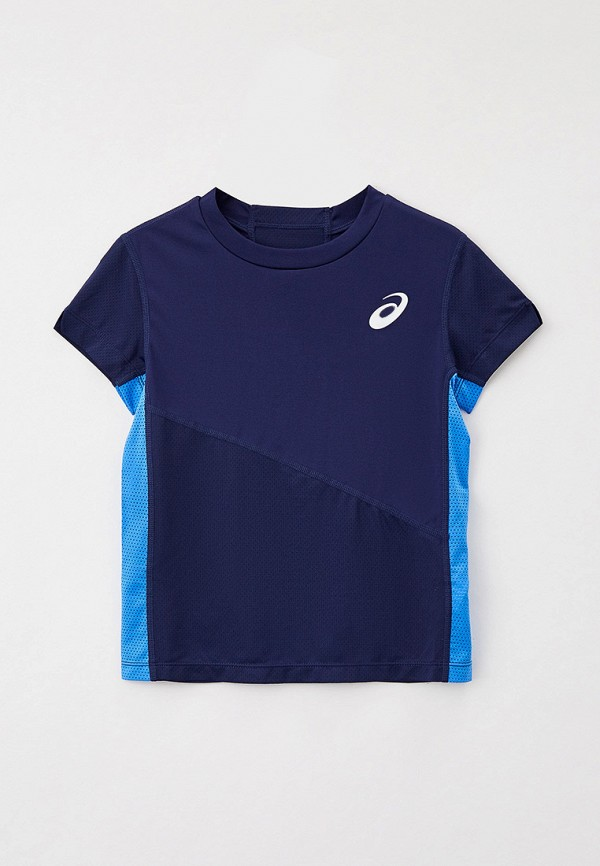 футболка с коротким рукавом asics для мальчика, синяя