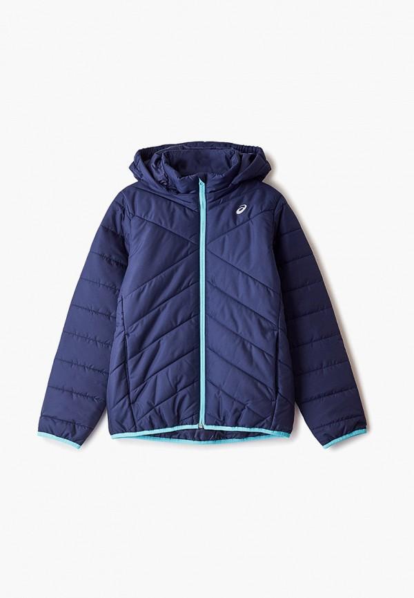 куртка asics для девочки, синяя