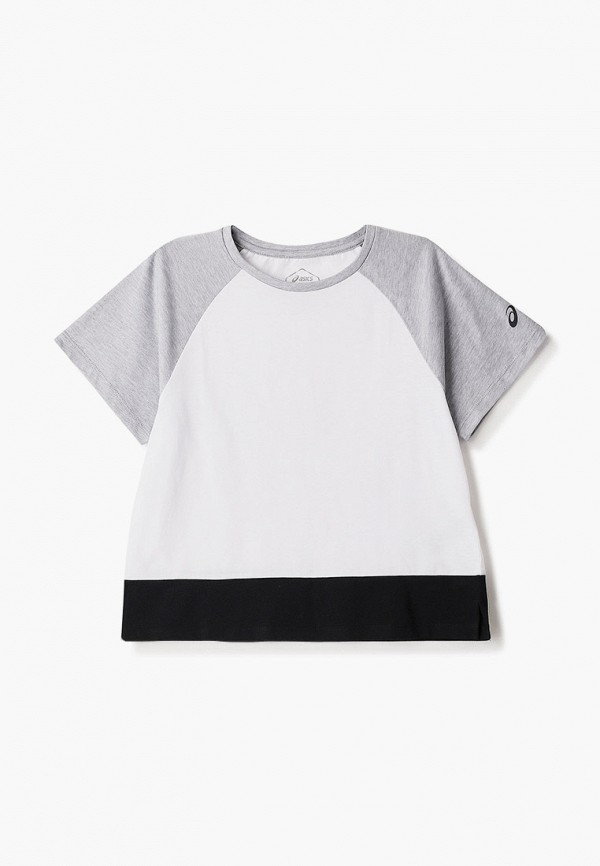 футболка с коротким рукавом asics для девочки, белая