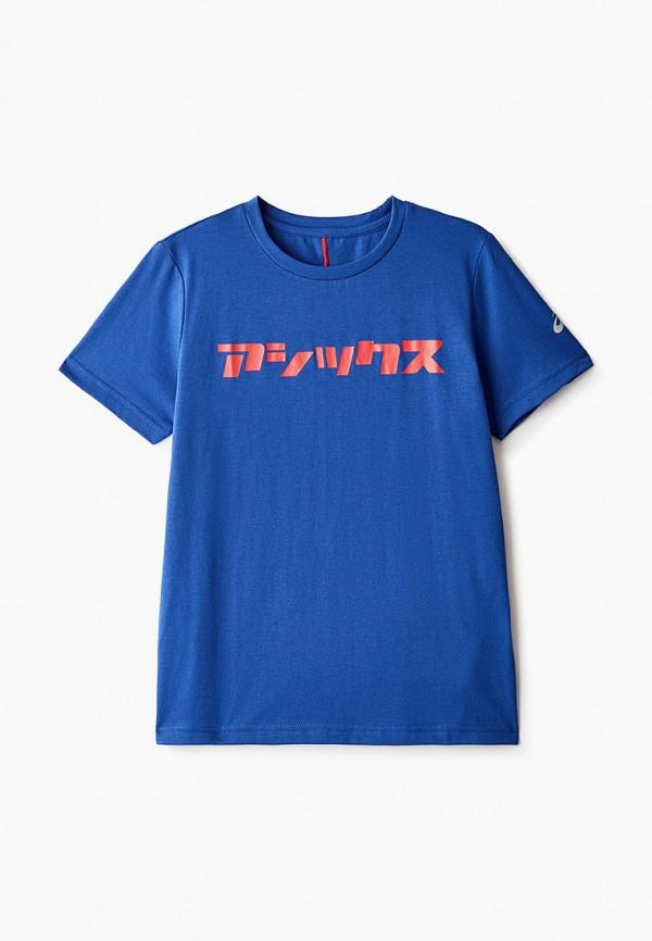 футболка asics малыши, синяя