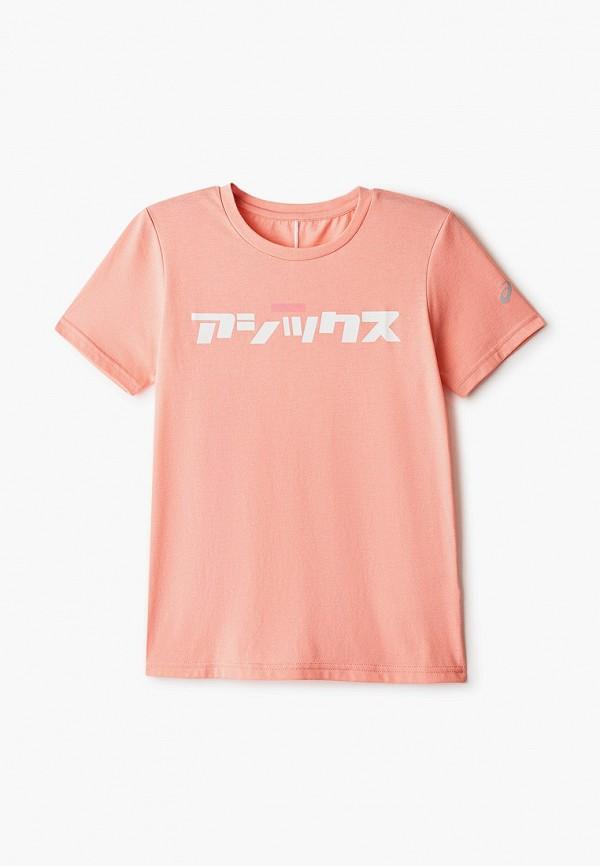 футболка с коротким рукавом asics малыши, розовая