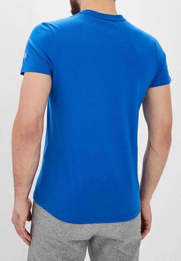 Фото 3 - мужскую футболку ASICS синего цвета