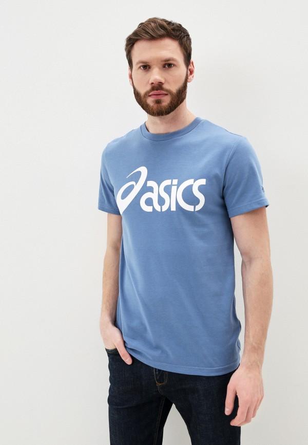 мужская спортивные футболка asics, голубая
