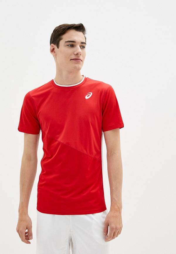 мужская спортивные футболка asics, красная