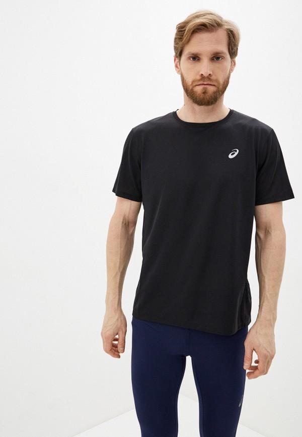 мужская футболка с коротким рукавом asics, черная