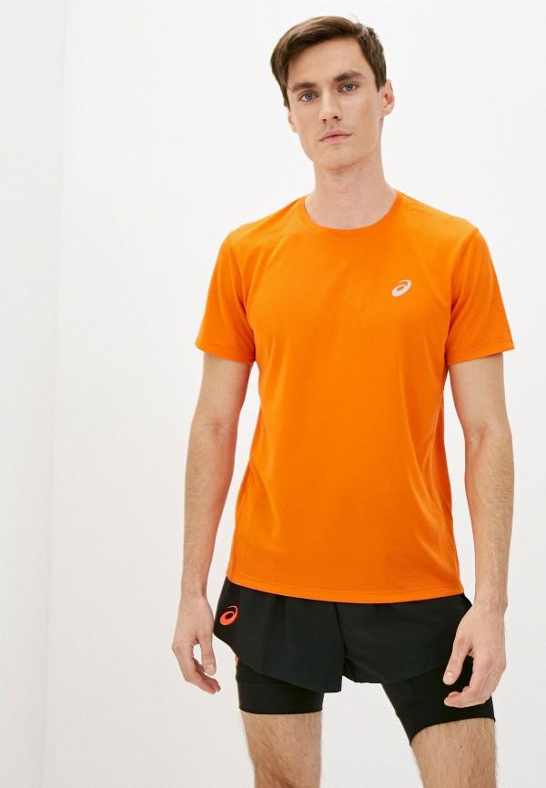 мужская спортивные футболка asics, оранжевая
