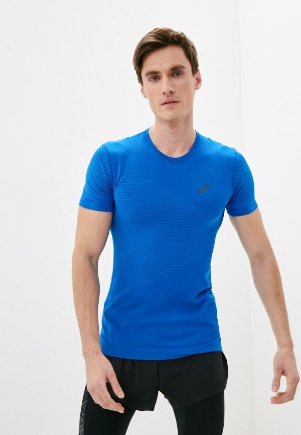 мужская спортивные футболка asics, синяя