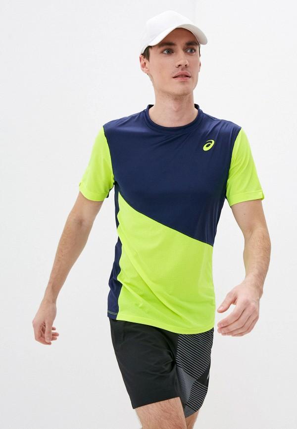 мужская спортивные футболка asics, разноцветная