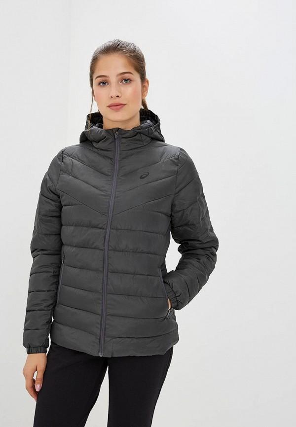 женская спортивные куртка asics, серая
