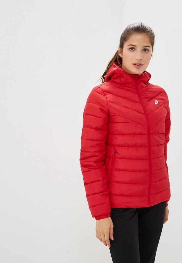 женская куртка asics, красная