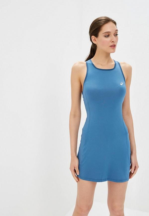женское платье asics, синее