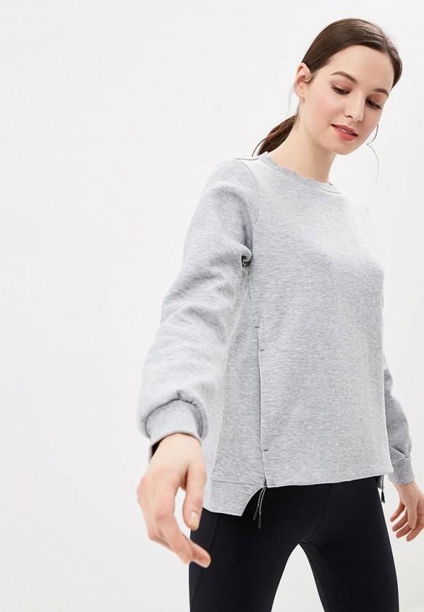 женский свитшот asics, серый