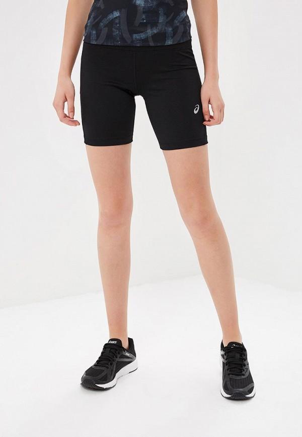 женские спортивные спортивные шорты asics, черные