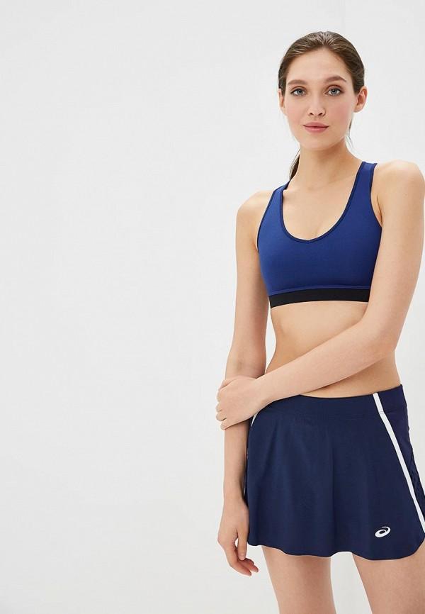 женский спортивные спортивный бюстгальтер asics, синий