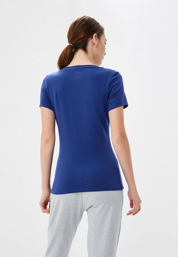 Фото 3 - женскую футболку ASICS синего цвета