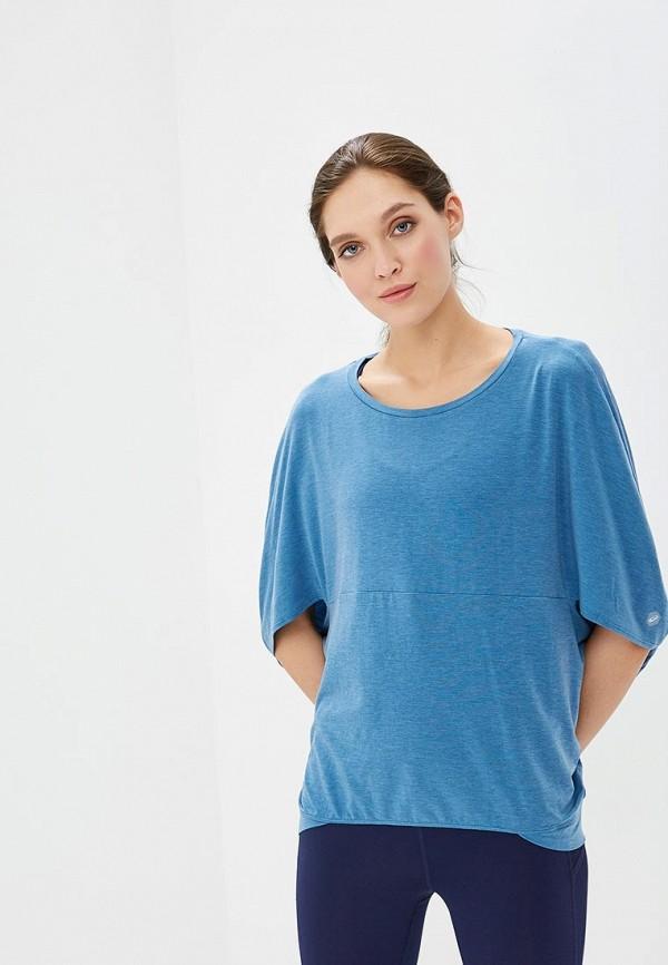 женская футболка asics, голубая