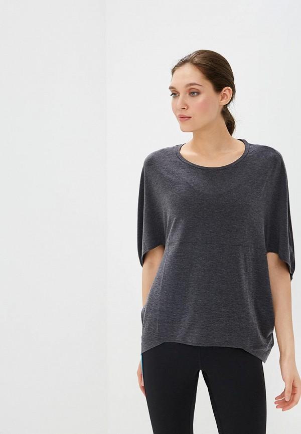 женская футболка asics, серая