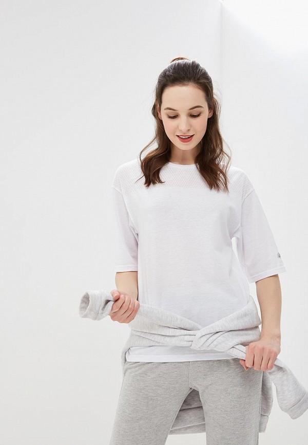 женская футболка asics, белая