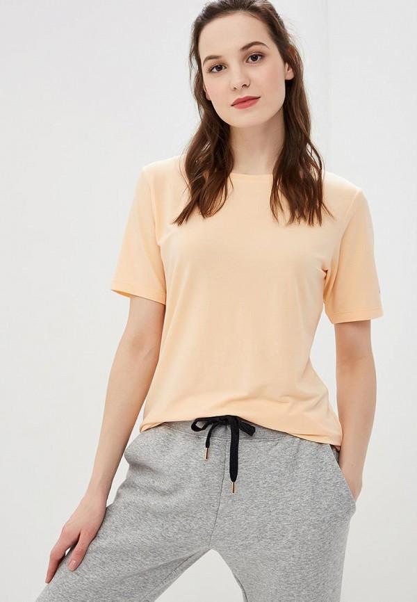 женская футболка asics, оранжевая