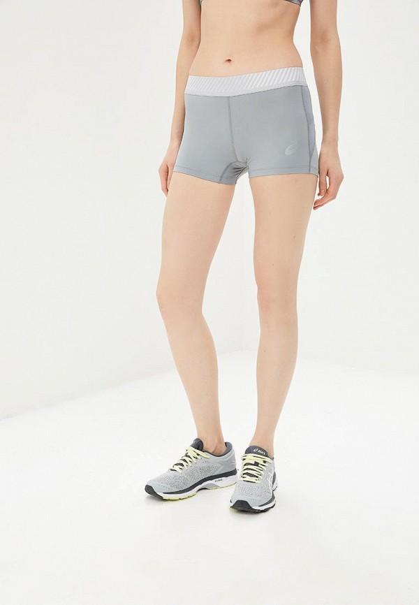 женские спортивные спортивные шорты asics, серые
