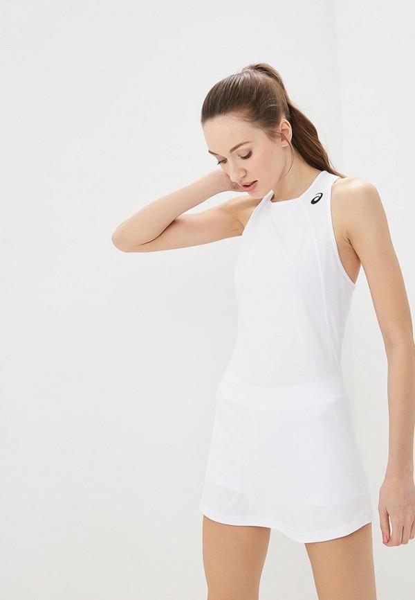 женское спортивные платье asics, белое