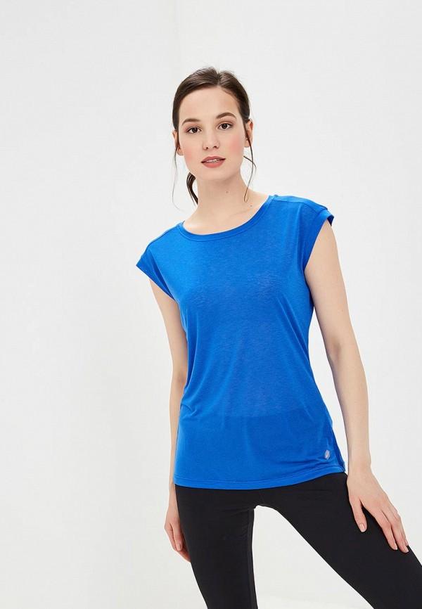 женская футболка asics, синяя