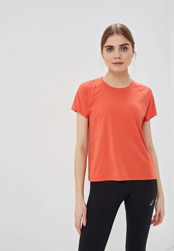 женская футболка asics, красная