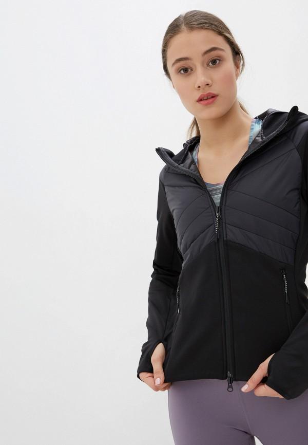женская куртка asics, черная