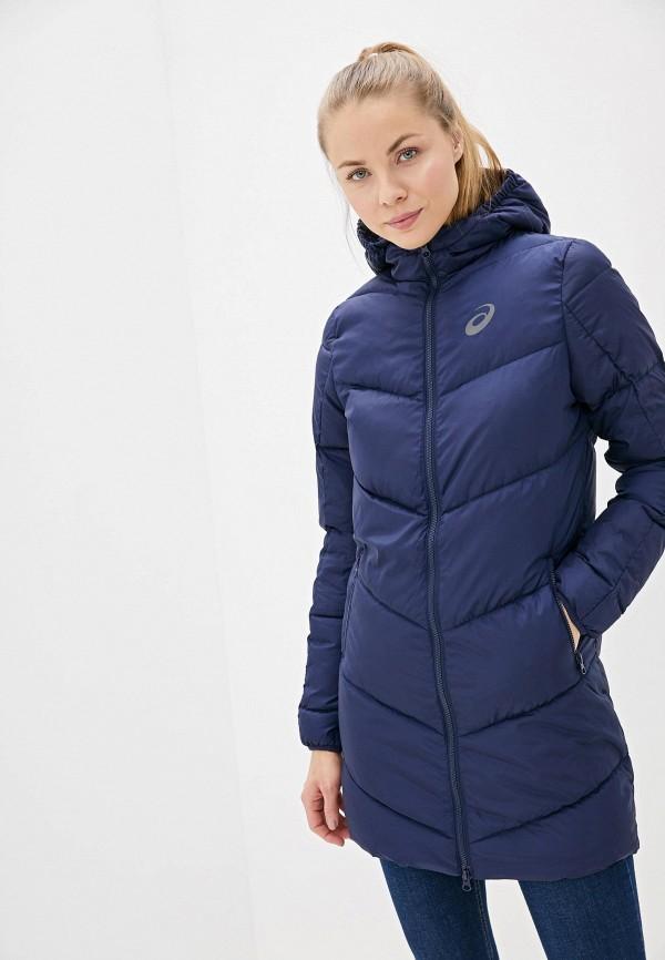 женская куртка asics, синяя