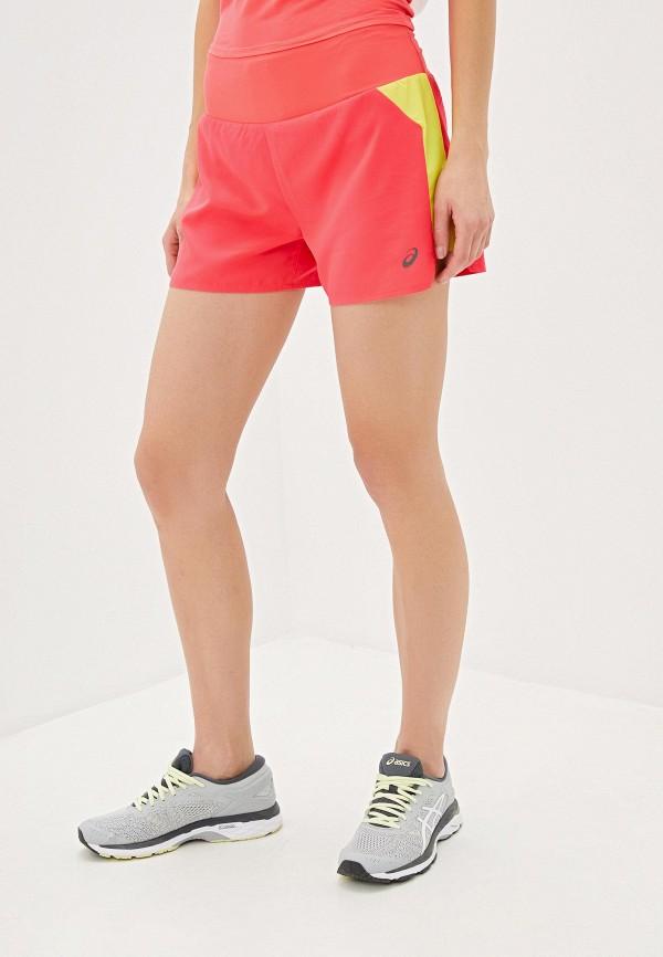 женские спортивные спортивные шорты asics, розовые