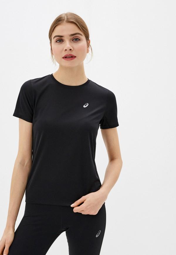 женская спортивные футболка asics, черная