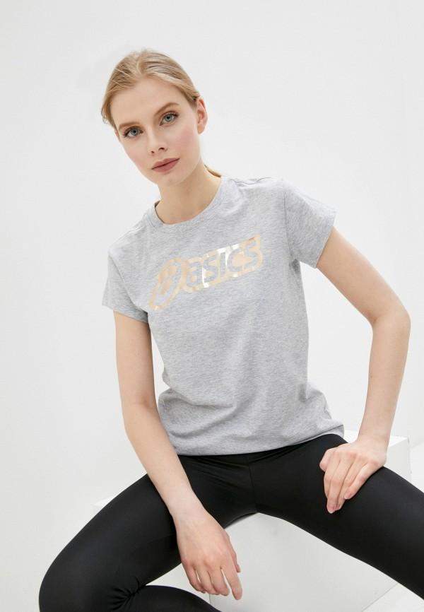 женская спортивные футболка asics, серая