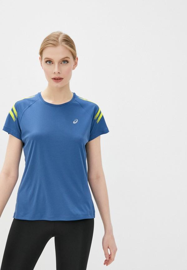 женская спортивные футболка asics, синяя