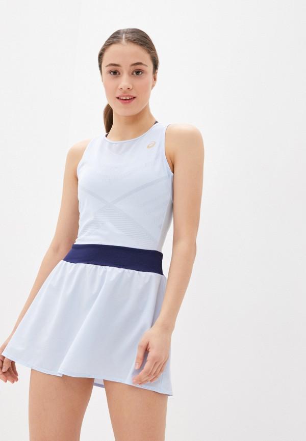 женское спортивные платье asics, голубое