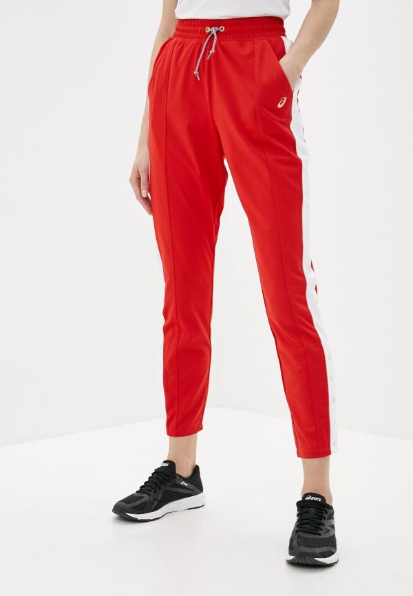 женские спортивные брюки asics, красные