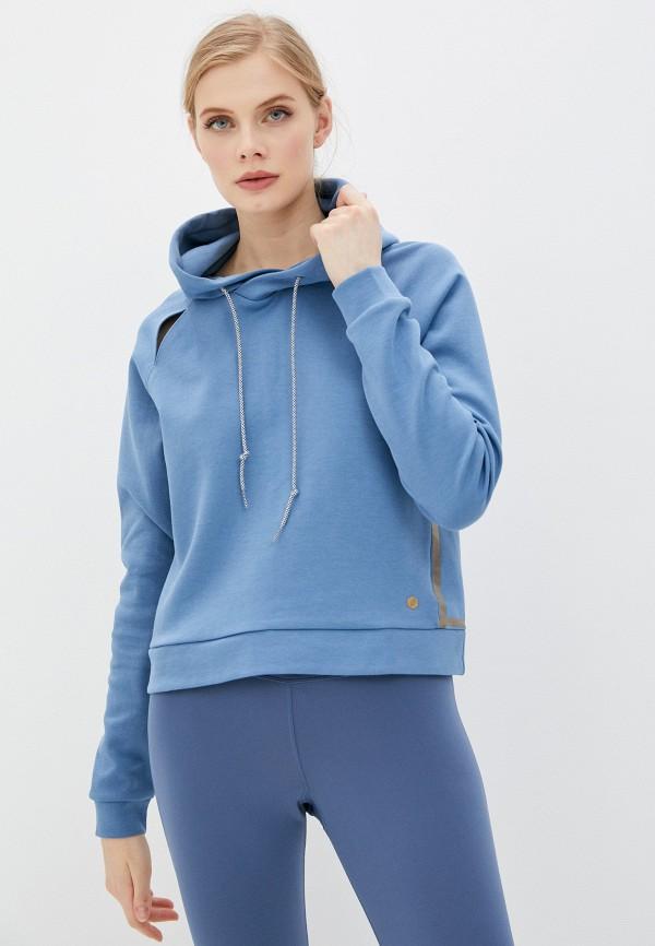 женские худи asics, синие