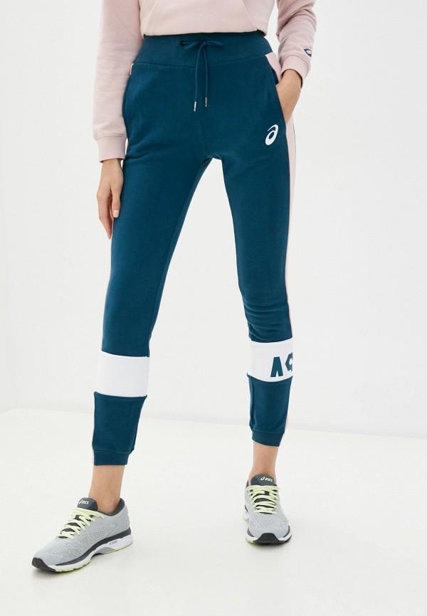 женские спортивные брюки asics, бирюзовые
