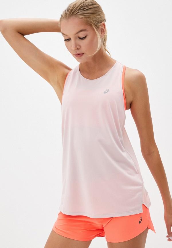 женская спортивные майка asics, розовая