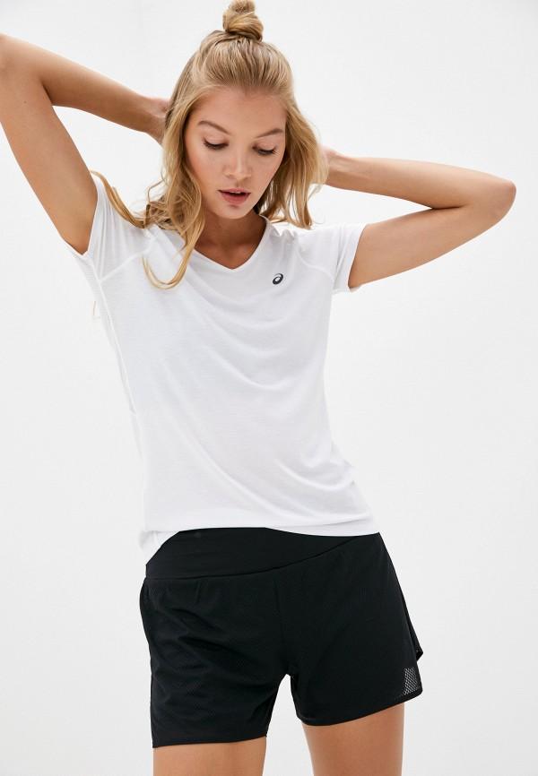 женская спортивные футболка asics, белая