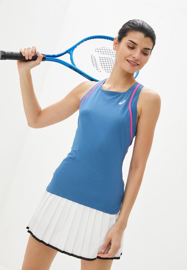 женская спортивные майка asics, синяя