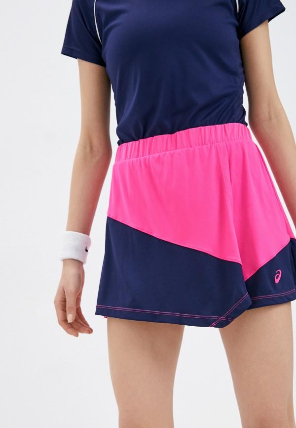 женская спортивные юбка asics, розовая