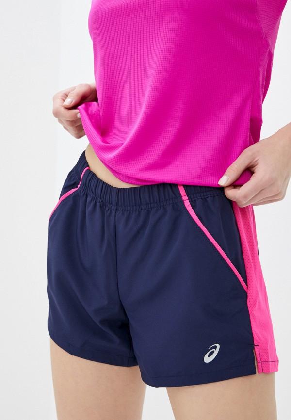 женские спортивные шорты asics, синие