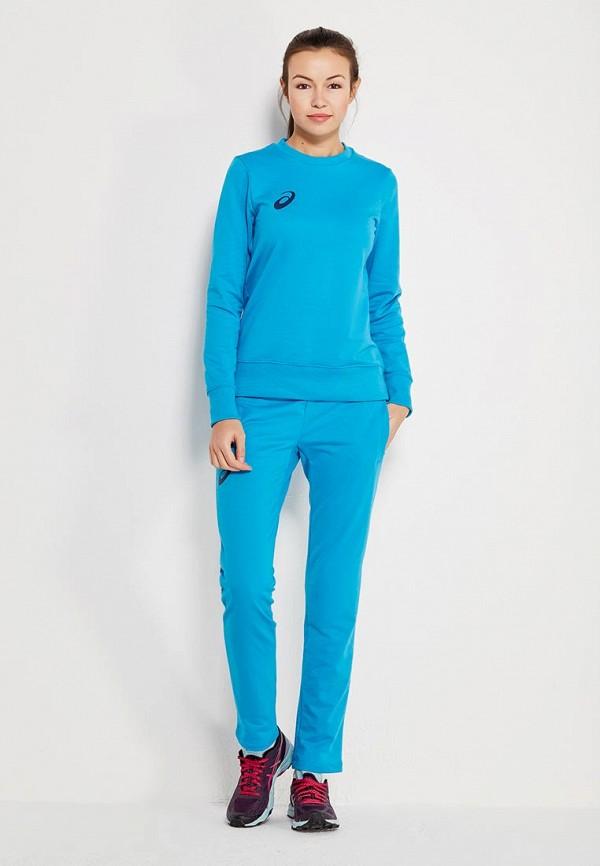 женский спортивные спортивный костюм asics, голубой