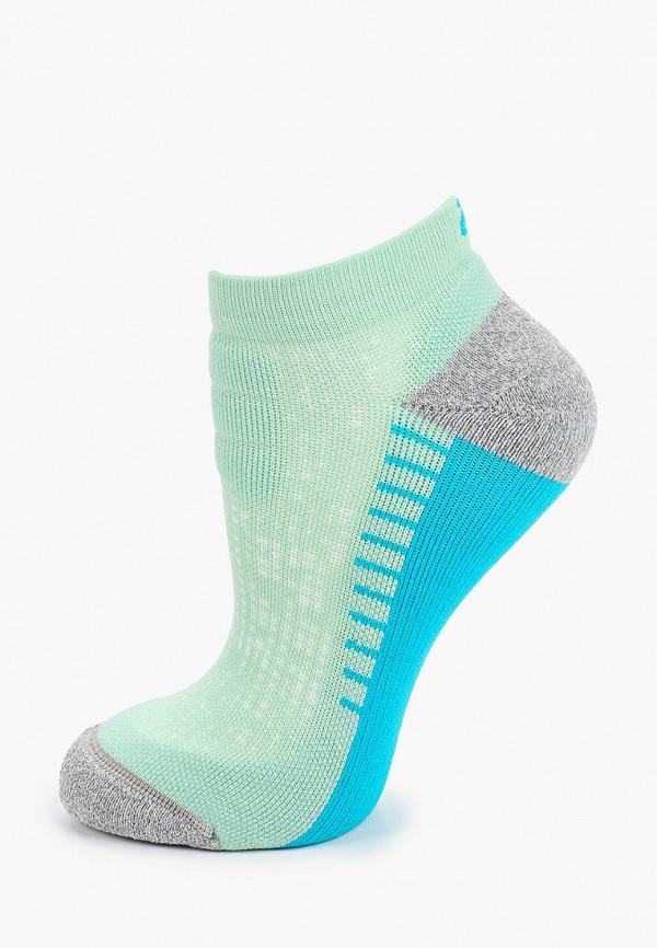 женские носки asics, зеленые