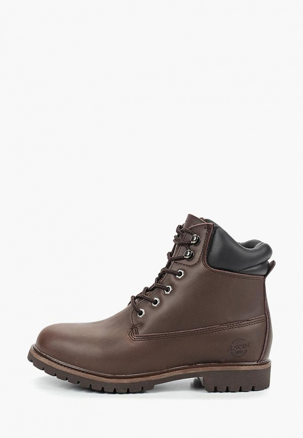 мужские ботинки ascot, коричневые