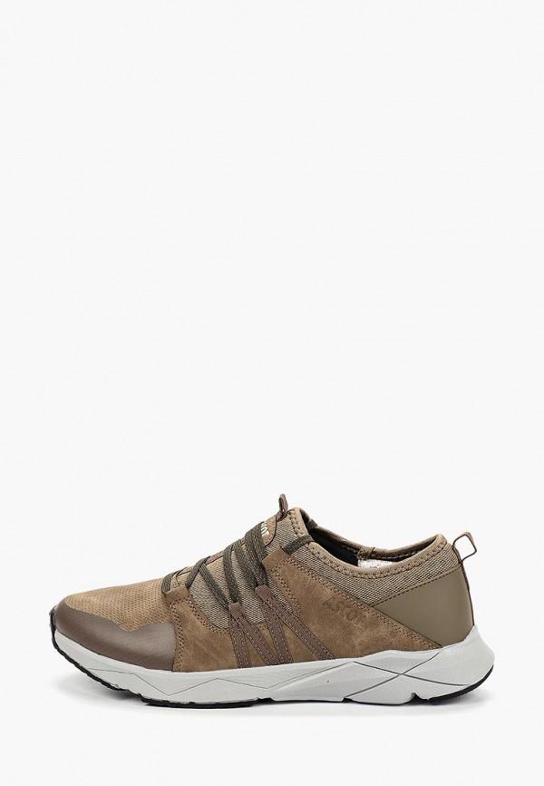 мужские кроссовки ascot, коричневые